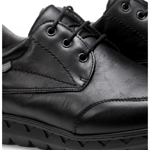 Adjustable leather shoe for...