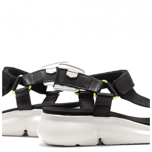 Bora leather sandal with...
