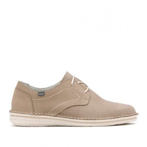 Leather shoe with rubber sole