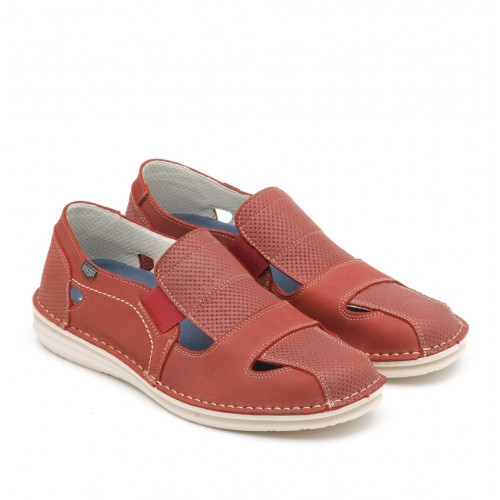 Leather sandal shoe with...