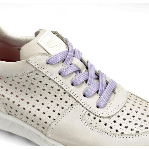 Split sneaker with colorful...