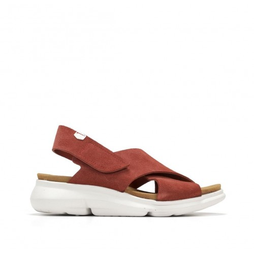 Bora sandal in leather with...